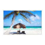 Tropical beach gallery wrapped canvas