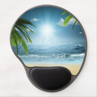 Tropical Beach Gel Mouse Pad