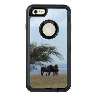 Tropical Beach Horses on the Beach OtterBox Defender iPhone Case