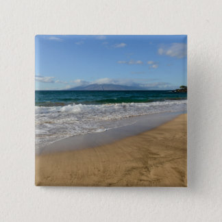 Tropical Beach in Maui Hawaii 2 Inch Square Button