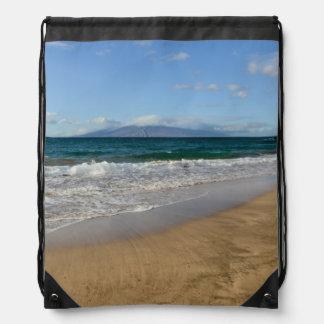 Tropical Beach in Maui Hawaii in Maui Hawaii Drawstring Bag