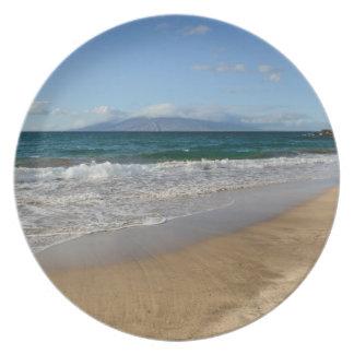 Tropical Beach in Maui Hawaii Plate