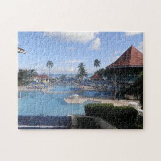 Tropical Beach in the Bahamas. Jigsaw Puzzle