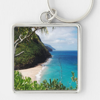 Tropical Beach Key Chain