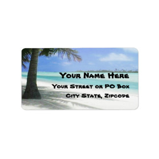 Tropical Beach Label