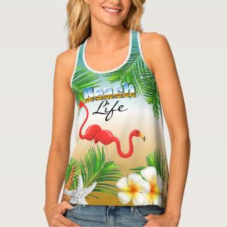 Tropical Beach Life Tank Top
