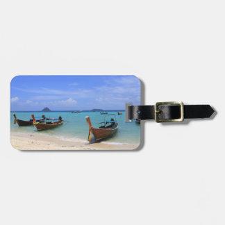 Tropical beach luggage tag