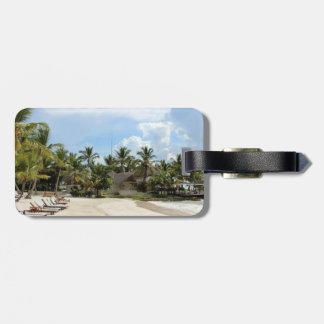 Tropical Beach Luggage Tag - Punta Cana