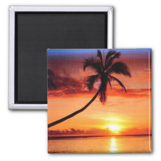 Tropical Beach Magnet