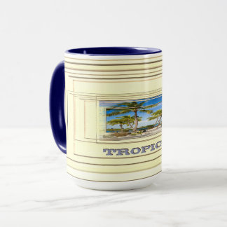 Tropical beach mug
