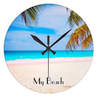 Tropical Beach, My Beach View Clocks