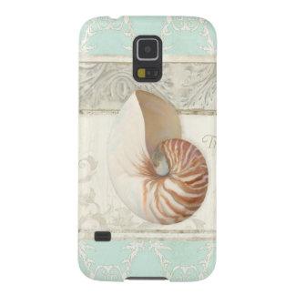 Tropical Beach Nautilus Shell Art Summer Fashion Cases For Galaxy S5