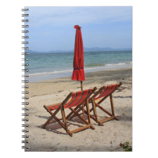 Tropical beach notebooks