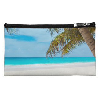 Tropical Beach Ocean Palm Trees Landscape Makeup Bag
