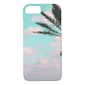 Tropical Beach, Ocean View, Pink Clouds, Palm iPhone 8/7 Case
