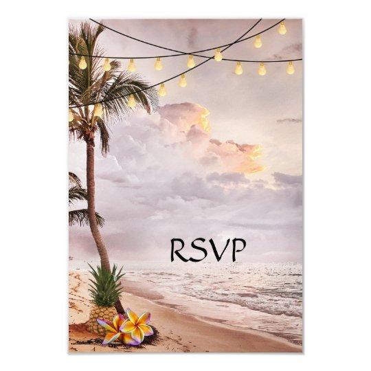 Tropical Beach or Destination Wedding RSVP Card