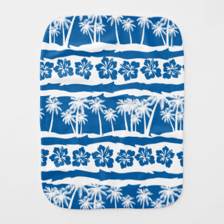 Tropical beach palm stripes burp cloth