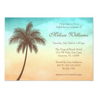 Tropical Beach Palm Tree Bridal Shower Card