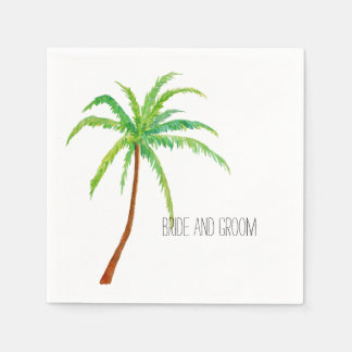 Tropical Beach Palm Tree Paper Napkins
