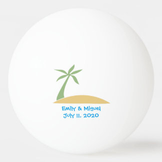Tropical Beach Palm Tree Wedding Favor Ping Pong Ping Pong Ball