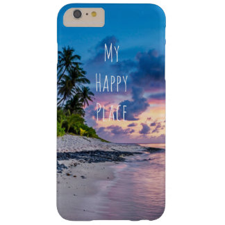 Tropical Beach Palm Trees Sunset Barely There iPhone 6 Plus Case