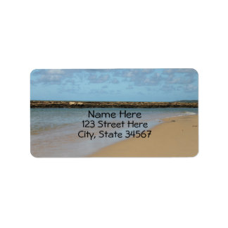 Tropical Beach Paradise Address Labels