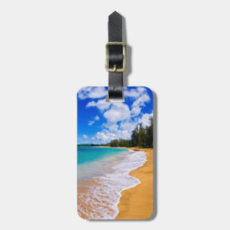 Tropical beach paradise, Hawaii Bag Tag