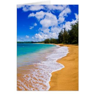 Tropical beach paradise, Hawaii Card
