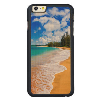 Tropical beach paradise, Hawaii Carved Maple iPhone 6 Plus Case