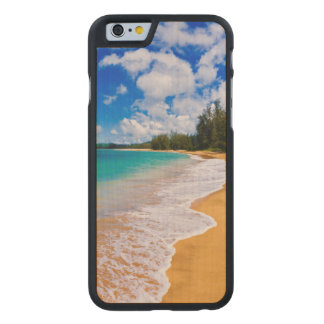 Tropical beach paradise, Hawaii Carved® Maple iPhone 6 Slim Case