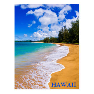 Tropical beach paradise, Hawaii Postcard