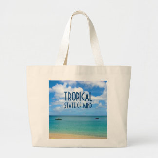 Tropical Beach Paradise Large Tote Bag
