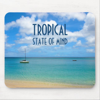 Tropical Beach Paradise Photo Mouse Pad