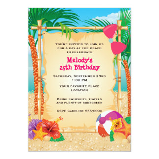 Tropical Beach Party Card