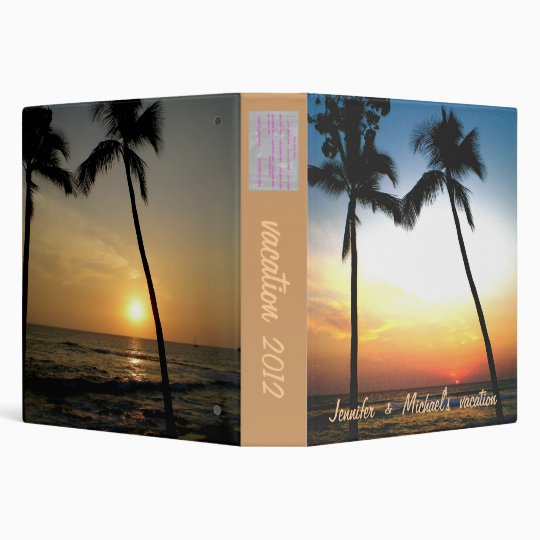 Tropical Beach Photo  Album Binder