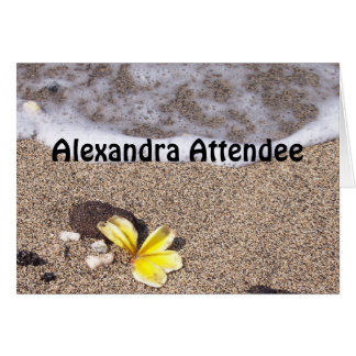 Tropical Beach - Place Setting Name Cards Seating