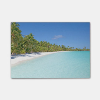 Tropical beach post-it® notes