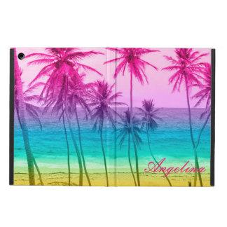tropical beach rainbow filter iPad air cover