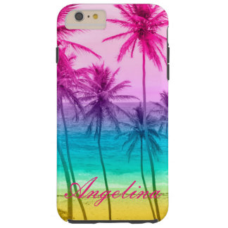 tropical beach rainbow filter tough iPhone 6 plus case