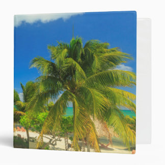 Tropical beach resort, Belize 3 Ring Binder