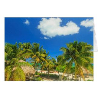 Tropical beach resort, Belize Card