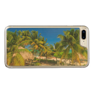 Tropical beach resort, Belize Carved iPhone 7 Plus Case