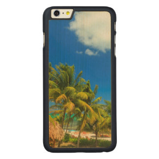 Tropical beach resort, Belize Carved® Maple iPhone 6 Plus Case