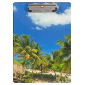 Tropical beach resort, Belize Clipboard