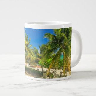 Tropical beach resort, Belize Giant Coffee Mug