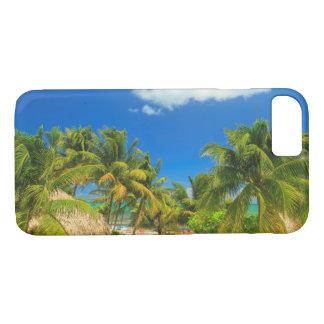 Tropical beach resort, Belize iPhone 7 Case