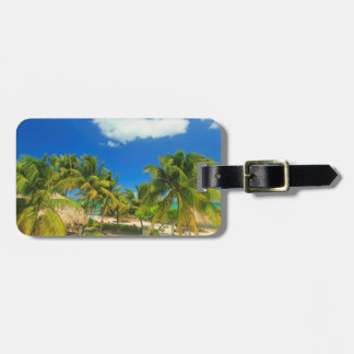 Tropical beach resort, Belize Luggage Tag