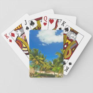 Tropical beach resort, Belize Poker Deck