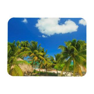 Tropical beach resort, Belize Rectangular Photo Magnet