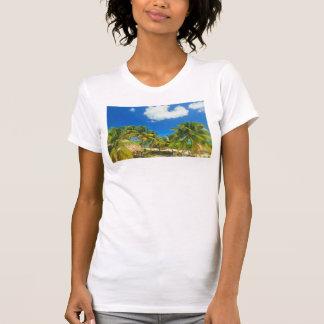 Tropical beach resort, Belize T-Shirt